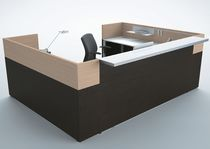 Corner reception desk / metal / melamine