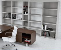 Contemporary bookcase / commercial / melamine / with shelf