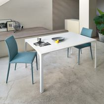 Contemporary dining table / steel / rectangular / square