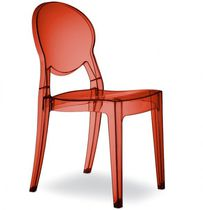 Contemporary visitor chair / stackable / recyclable / polycarbonate
