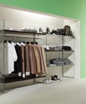 Clothing display rack / for shoes / glass / commercial