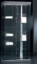 Contemporary display case / floor-standing / glass / lacquered wood