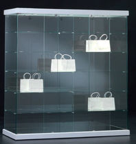 Contemporary display case / floor-standing / glass / commercial