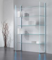 Wall-mounted display rack / clothing / glass / commercial