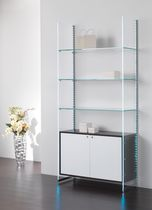 Wooden display rack / glass / commercial