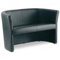 Compact sofa / contemporary / for yachts / synthetic leather