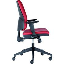 Contemporary office chair / on casters / with armrests / fabric