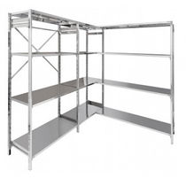 Standard shelving / merchandise / modular / for shops