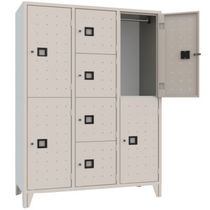 Steel locker / for public buildings / for sports facilities / for offices