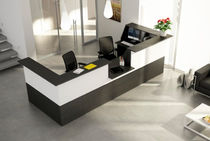 Wooden reception desk / metal