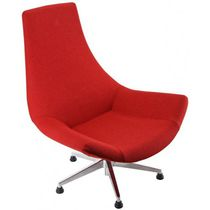 Contemporary dining chair / upholstered / swivel / fabric