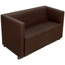 Compact sofa / contemporary / for reception areas / leather