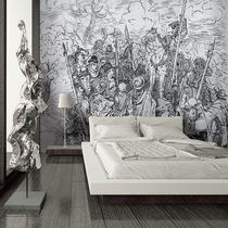Contemporary wallpaper / fabric / vinyl / nature pattern