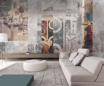 Contemporary wallpaper / fabric / vinyl / urban motif