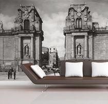 Contemporary wallpaper / fabric / vinyl / urban motif
