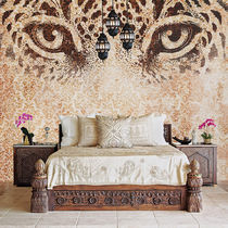 Contemporary wallpaper / fabric / vinyl / animal motif