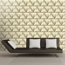Contemporary wallpaper / fabric / vinyl / geometric pattern