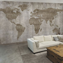 Contemporary wallpaper / fabric / vinyl / map