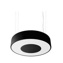 Hanging light fixture / compact fluorescent / round / steel