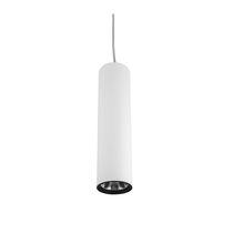 Pendant downlight / LED / tubular / steel
