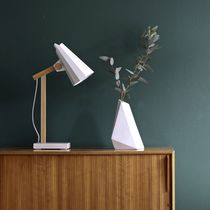 Table lamp / contemporary / aluminum / oak