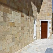Natural stone wallcovering / residential / textured / exterior