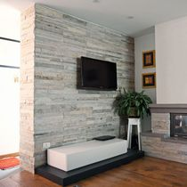 Quartzite wall cladding / interior / textured / decorative