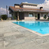 Outdoor tile / floor / quartzite / plain