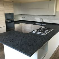 Quartzite countertop / kitchen / gray