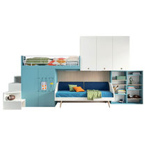 Single bed / contemporary / child's / with shelves