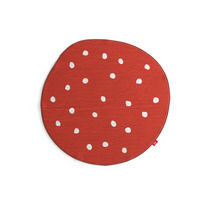 Contemporary rug / patterned / round / child's