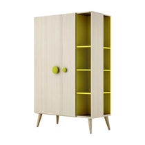 Contemporary wardrobe / with hinged door / child's / with bookcase