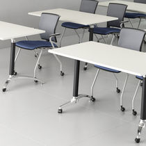 Contemporary classroom table / laminate / rectangular / folding