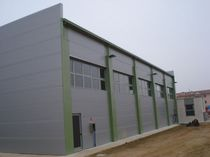 Wall sandwich panel / metal facing / polyurethane (PUR) core