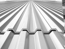Sheet steel roofing / ribbed