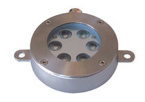 Surface-mounted light fixture / LED / round / stainless steel