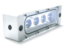Surface-mounted light fixture / LED / linear / outdoor