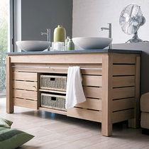 Free-standing washbasin cabinet / teak / contemporary / with ... | {Waschtischunterschrank freistehend 9}