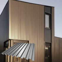 Steel cladding / stainless steel / smooth / textured