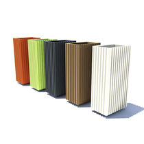Polyethylene planter / rectangular / vertical / contemporary