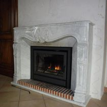 Wood fireplace / traditional / closed hearth / built-in