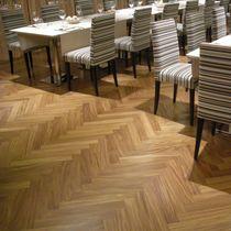Solid parquet flooring / glued / oiled