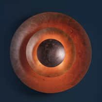Contemporary wall light / metal / copper / LED