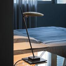 Table lamp / minimalist design / aluminum / chromed metal