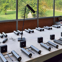 Table lamp / contemporary / nickel / carbon fiber