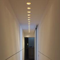 Recessed downlight / LED / round / metal
