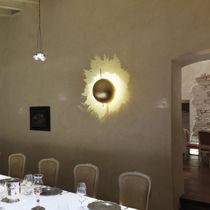 Original design wall light / nickel / fiberglass / LED