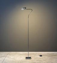 Floor-standing lamp / contemporary / metal / nickel