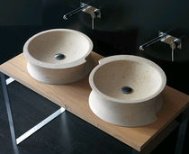 2 bowl counter top washbasin VELA BANDINI RUBINETTERIE