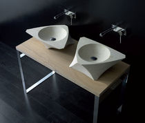 2 bowl counter top washbasin PRISMA BANDINI RUBINETTERIE